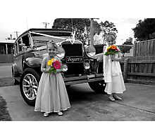 Flowergirls Photographic Print