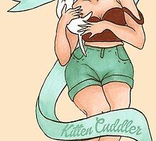 kitten cuddler by cheekystickers