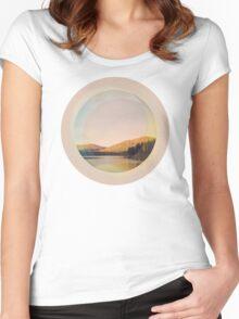 Digital Landscape #4 Women's Fitted Scoop T-Shirt