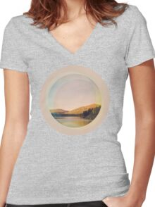 Digital Landscape #4 Women's Fitted V-Neck T-Shirt