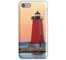 Morning at Manistique Lighthouse iPhone Case/Skin