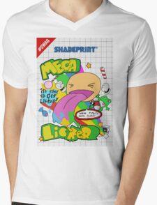 Mega Licker! [Cartridge Sleeve Art Work]. Mens V-Neck T-Shirt