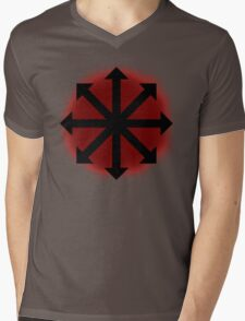 Red Chaos Mens V-Neck T-Shirt