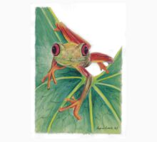 Red-Eye Green Tree Frog One Piece - Short Sleeve