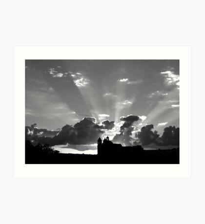 Sunrise On Tas-Silg Art Print