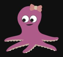 Cute Girl Octopus Kids Tee