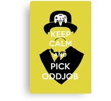 Pick Oddjob Canvas Print