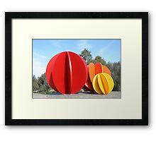 Coloured Balls Framed Print