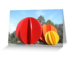 Coloured Balls Greeting Card