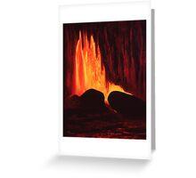 Hawaiian Lava Flow Greeting Card