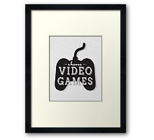 Choose Video Games Framed Print