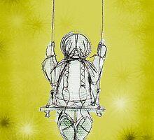 Girl on a swing. by Lisadee Lisa Defazio