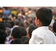 Watching the parade Photographic Print
