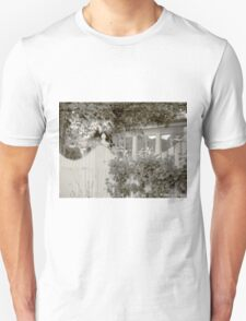 white picket fence and trees T-Shirt