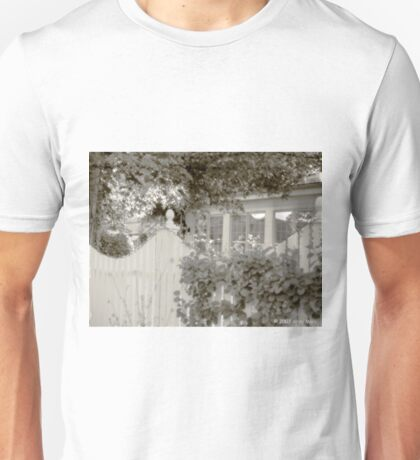 white picket fence and trees Unisex T-Shirt