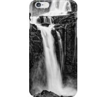 Iguazu Falls - Fall to the Rocks - Monochrome iPhone Case/Skin