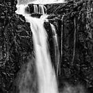 Iguazu Falls - Fall to the Rocks - Monochrome by photograham