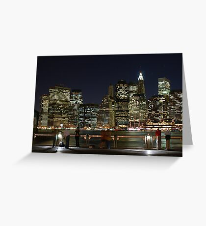 Pier View - New York City Greeting Card