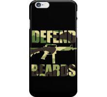DEFEND BEARDS iPhone Case/Skin