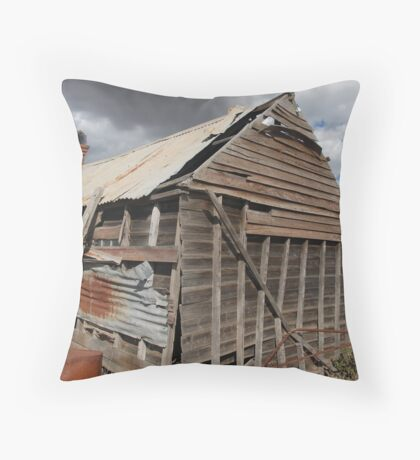Winery shack Throw Pillow