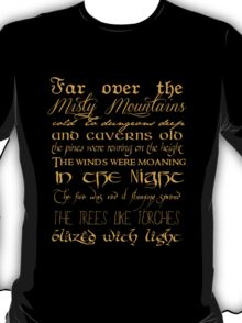 Misty Mountains Thorin's Song T-Shirt