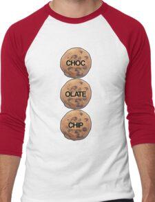 Chocolate Chip Men's Baseball ¾ T-Shirt
