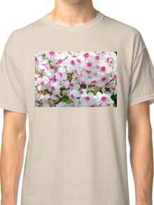 White Red Flowers Classic T-Shirt