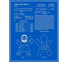 Talking Jesus Doll Patent - Blueprint Photographic Print