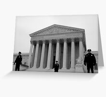 Law and Order Greeting Card