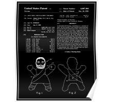 Talking Jesus Doll Patent - Black Poster