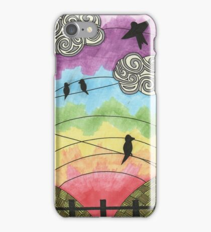 Birds on the wire 2 iPhone Case/Skin