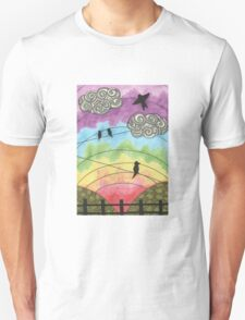 Birds on the wire 2 Unisex T-Shirt