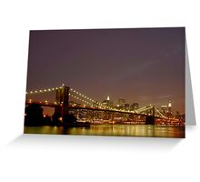 Fiery Sky - New York Greeting Card