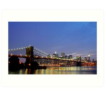 Over The Brooklyn Bridge Art Print