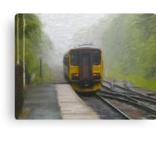 Passenger Train Leaving Hebden Bridge Canvas Print