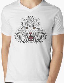 Leopard Vector Mens V-Neck T-Shirt
