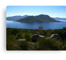View to Lake Pedder #1 from Red Knoll Lookout Canvas Print