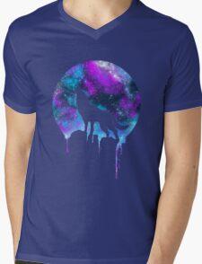 Space Howl Mens V-Neck T-Shirt