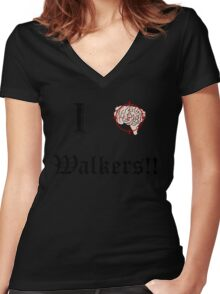 I Target Walkers Women's Fitted V-Neck T-Shirt