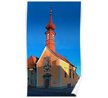 The cemetary church of Aigen III   architectural photography Poster
