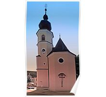 The village church of Helfenberg V   architectural photography Poster