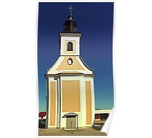 The village church of Kirchschlag II   architectural photography Poster