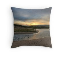 Inverness Beach Sunrise Nova Scotia Throw Pillow