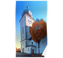 The village church of Klaffer II   architectural photography Poster