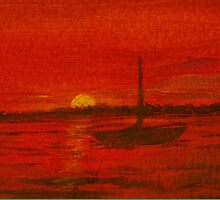 Sunset Sail by jbguess
