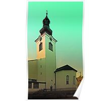 The village church of Lembach / Mkr II   architectural photography Poster