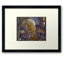 The arch Framed Print