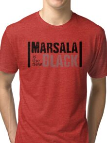 Beautiful Cushions/Marsala is the new Black Tri-blend T-Shirt