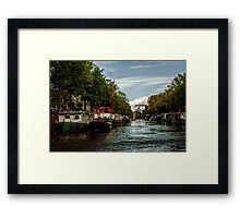 Amsterdam Canals Framed Print