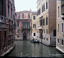 Venice - Little Canal by Gilberte